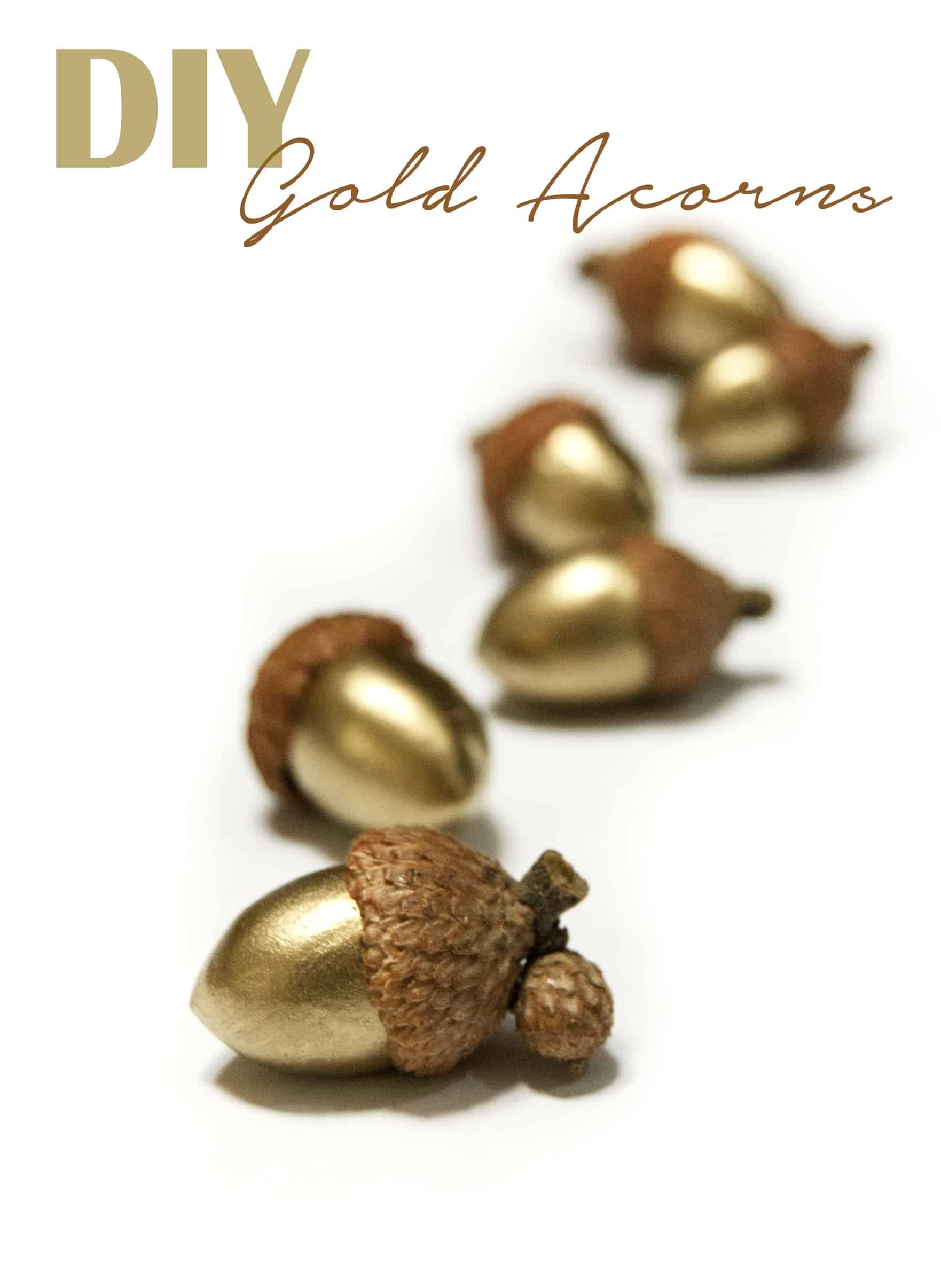 Decorative DIY gold acorns