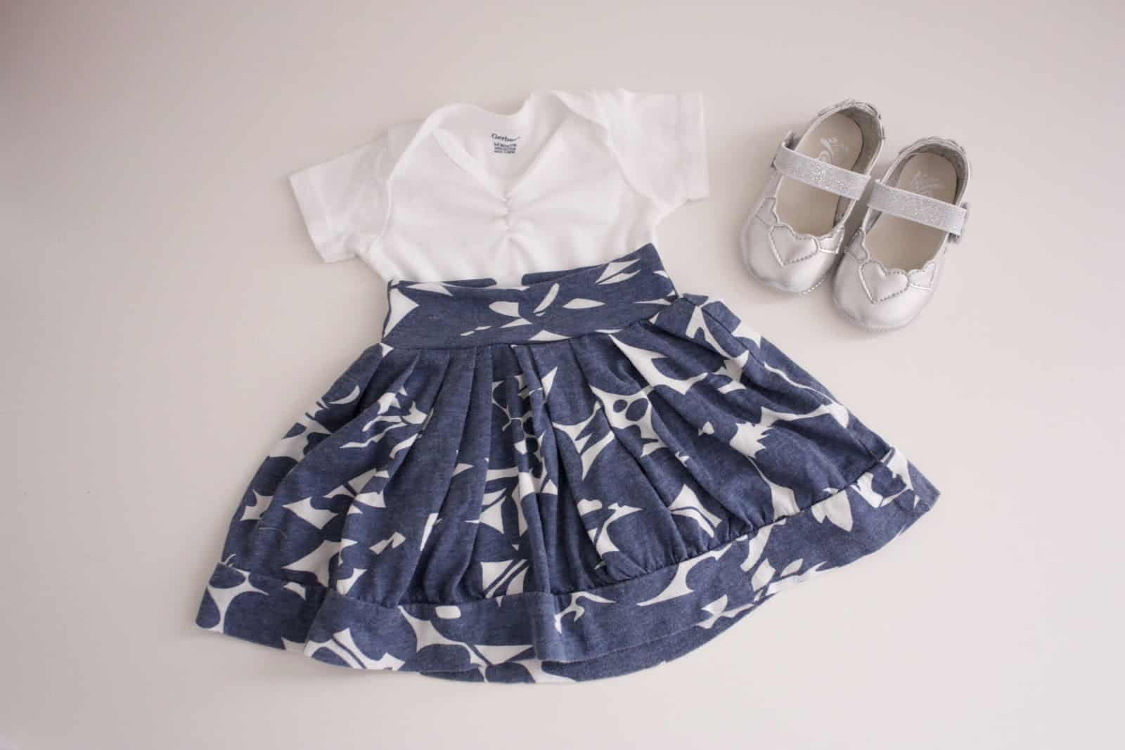 Easy DIY baby skirts