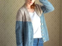 Estuary Two Toned Cardigan 200x150 Cozy Elegance: 15 Light Cardigan Knitting Patterns for Mild Weather