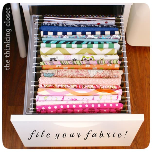 Filling fabric organizer