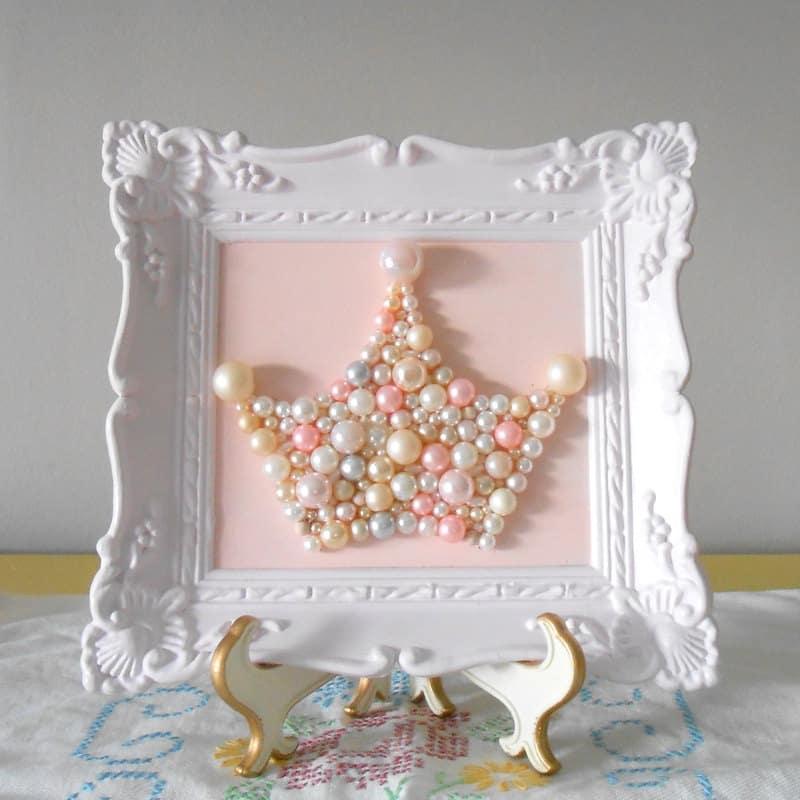 Framed pearl tiara art