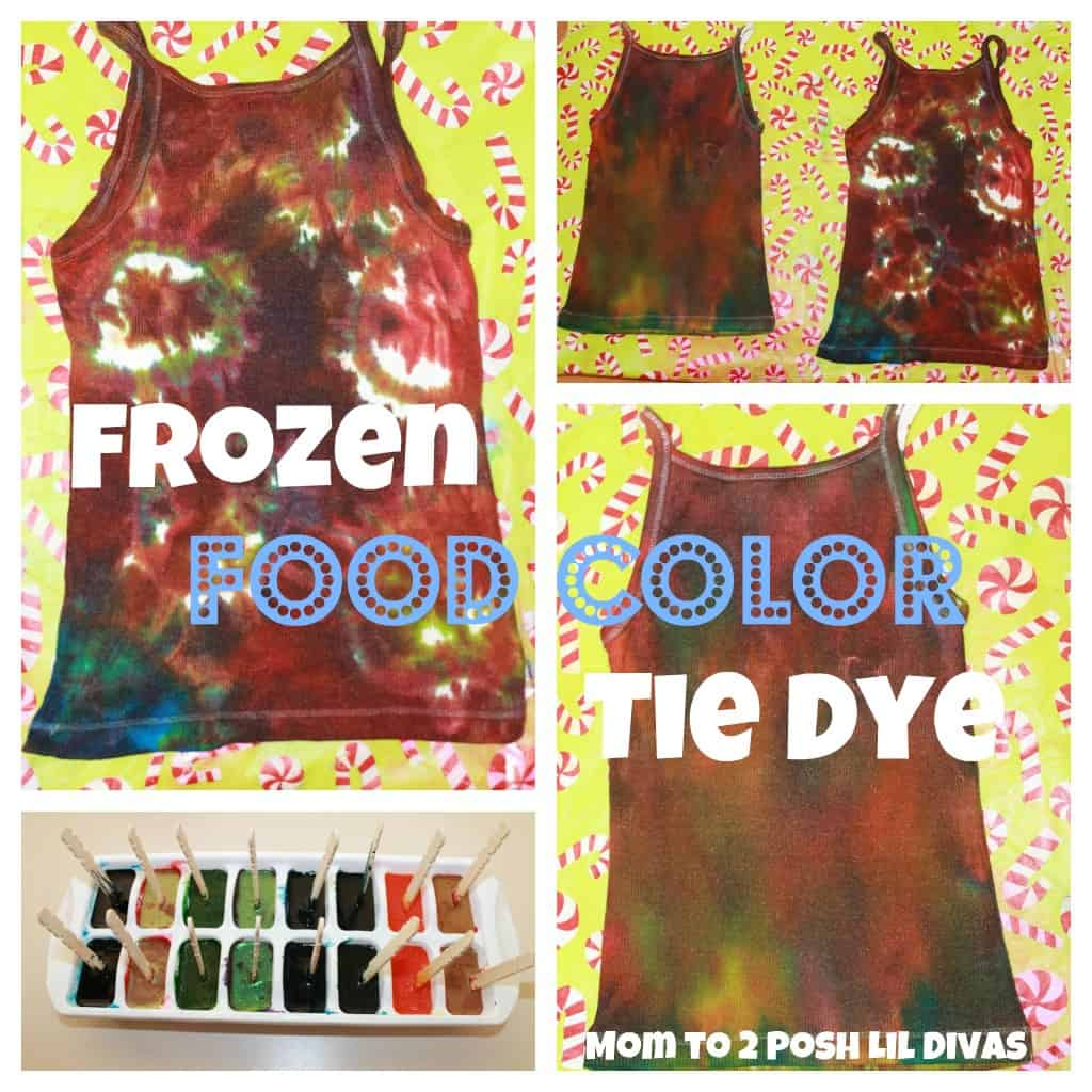 Frozen food colouring tie dye