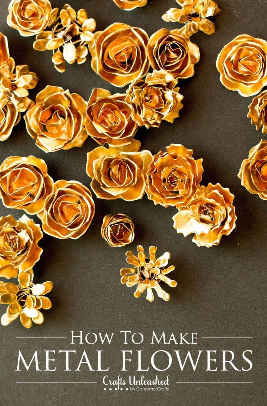 Gold metal flower tutorial