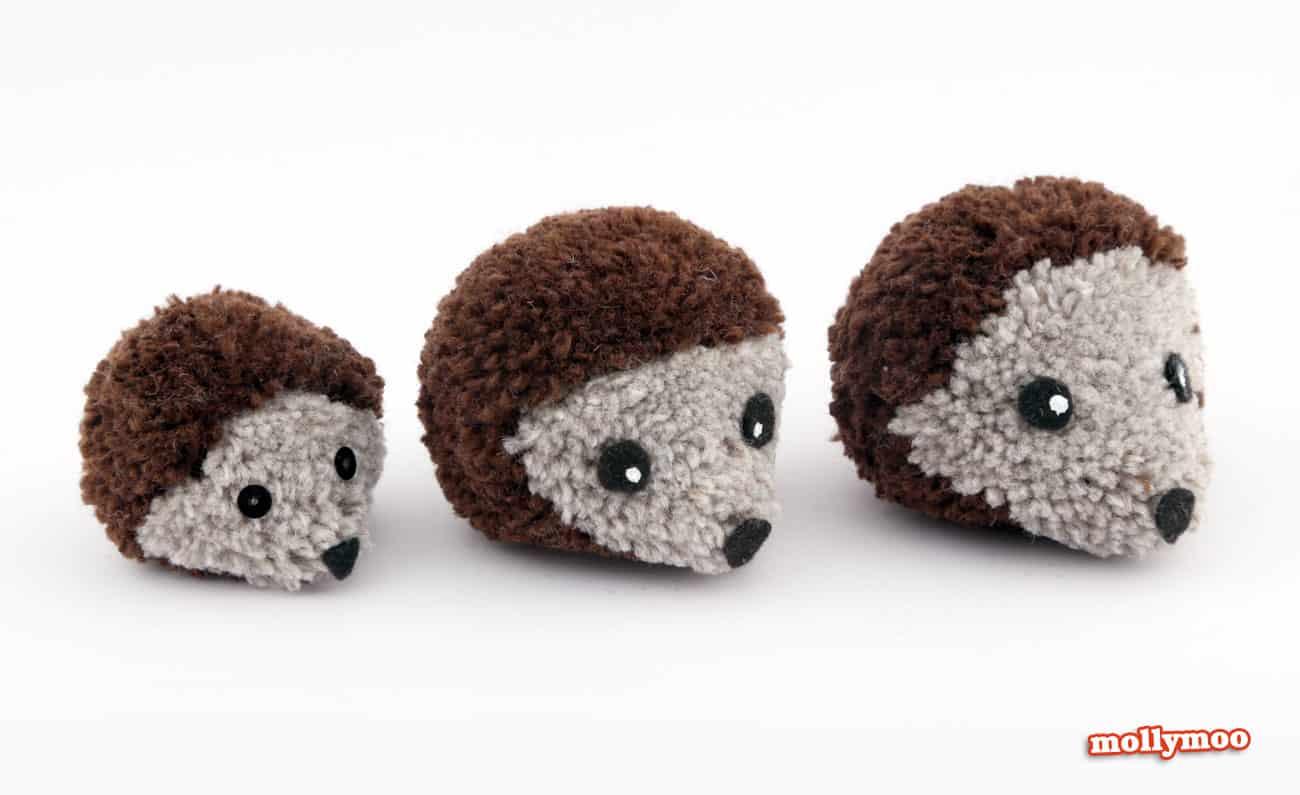Hedgehog pom poms