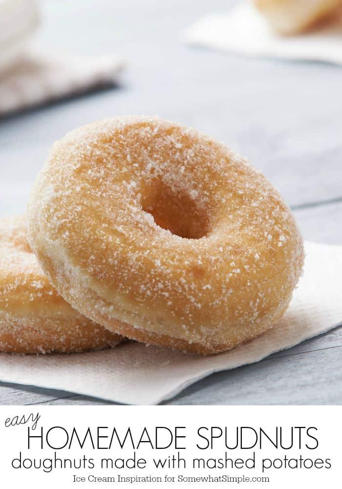 Homemade spudnuts