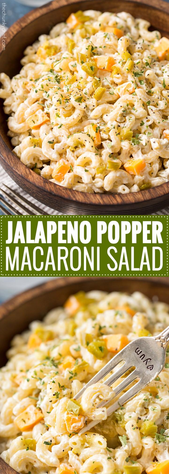Jalapeno popper macaroni salad