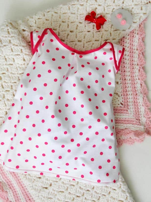 Knit fabric baby dress