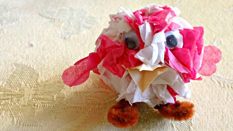 Mini tissue paper bird