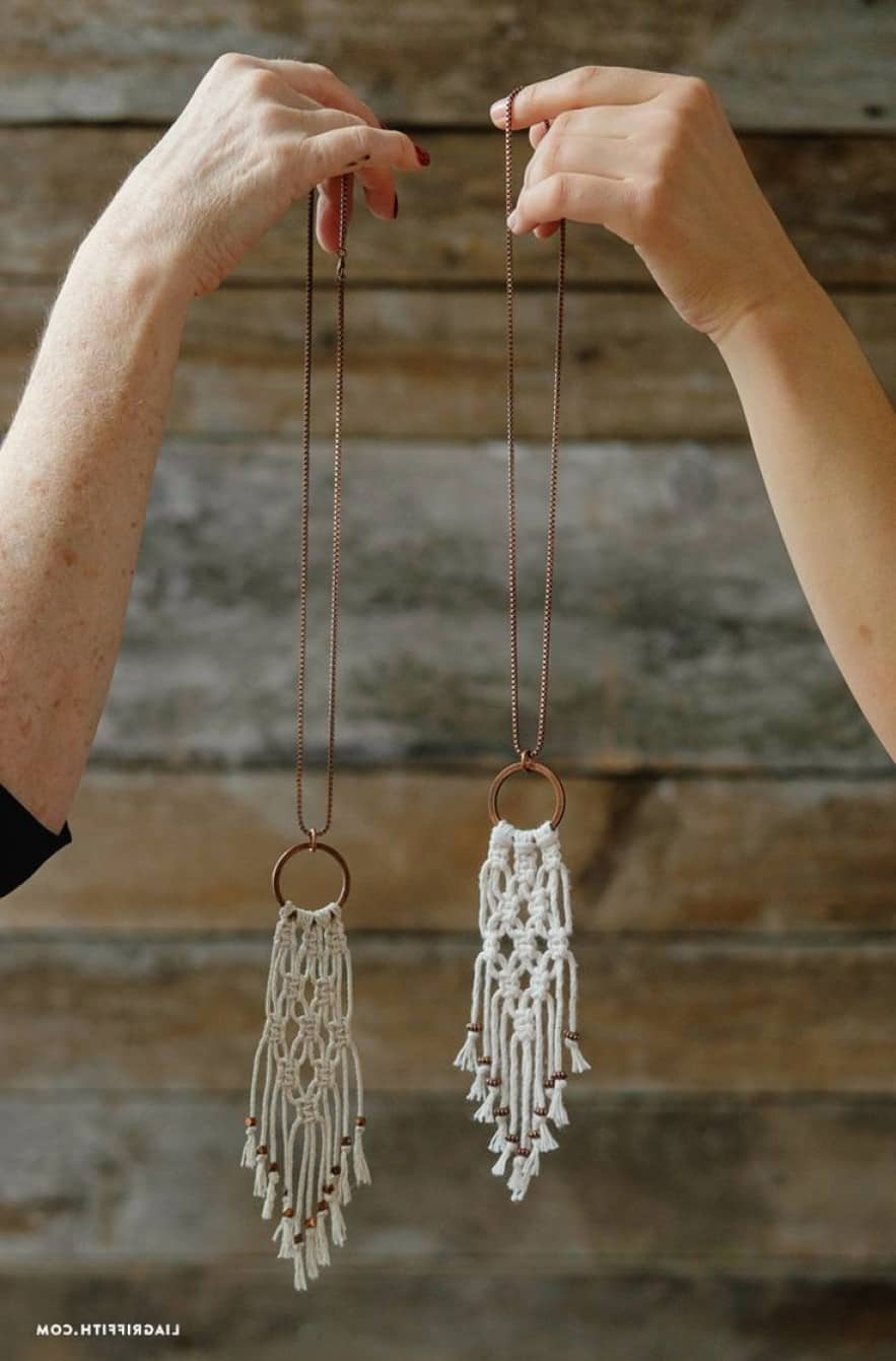 Miniature macrame necklace