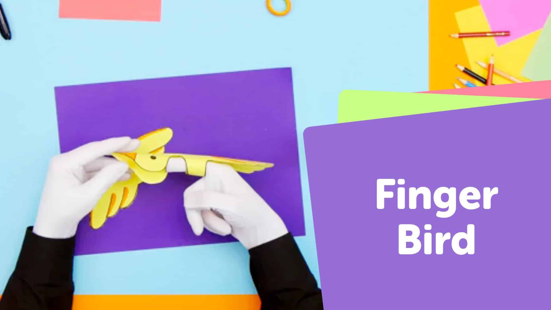 Paper finger puppet