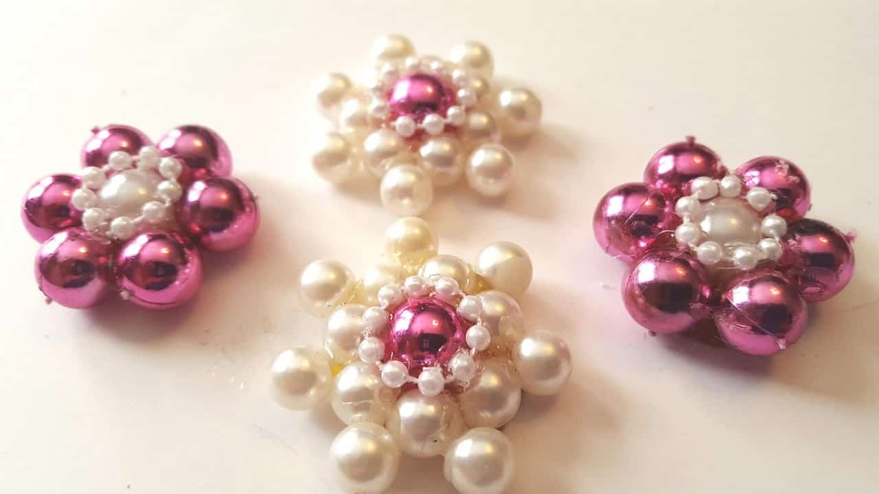 Pearl flower embellishments