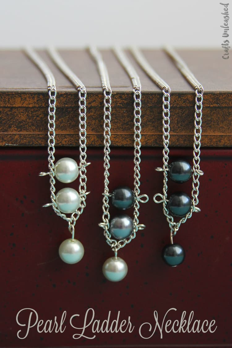 Pearl ladder necklace