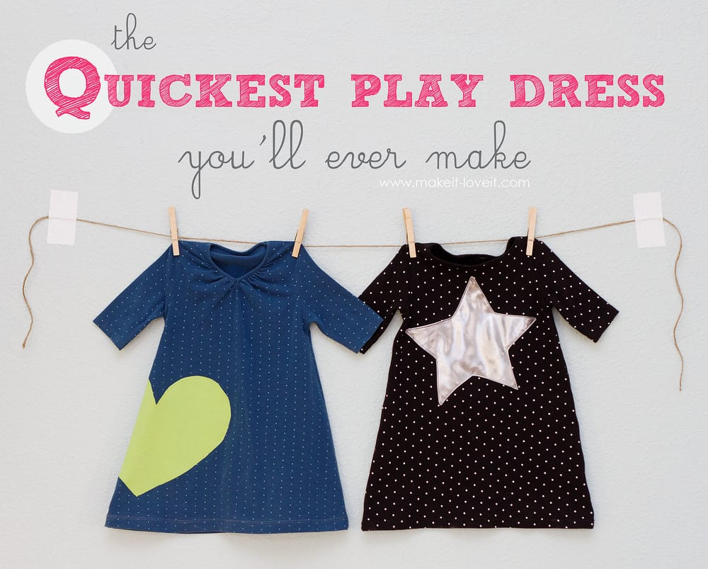 Quick and easy play dress