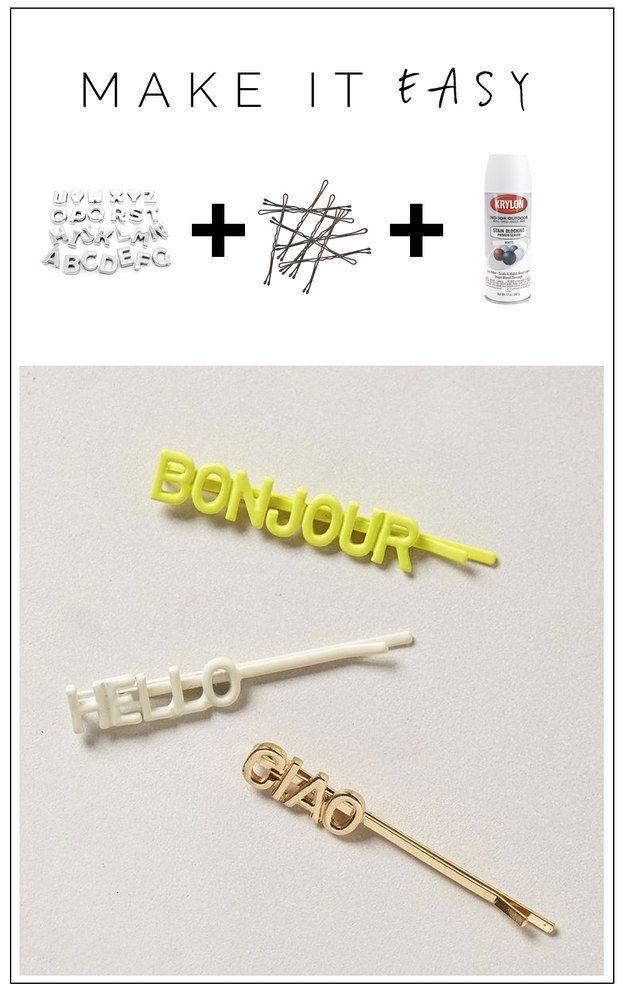 Quirky quote bobby pins