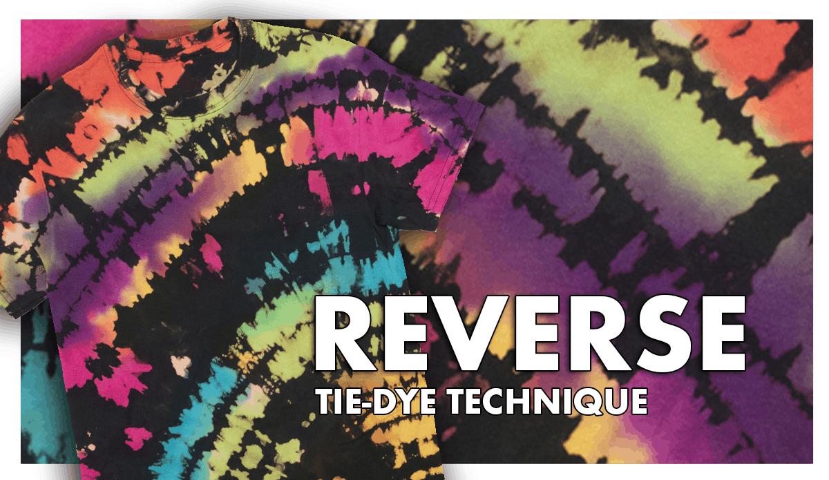 Reverse tie dye technique