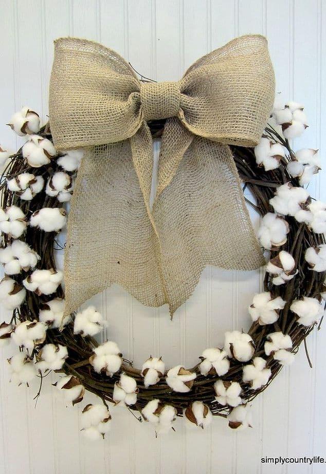 Snowballed winter wreath