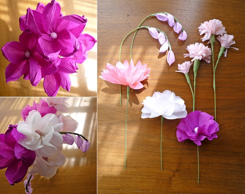 15 interesting crafts made with tissue paper stunningly realistic tissue paper flowers mightylinksfo