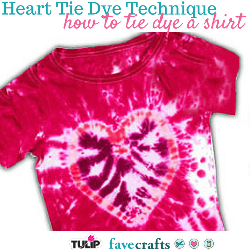 Tie dye heart techniques