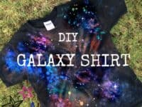 Tie dyed galaxy t shirt 200x150 15 Awesome DIY Tie Dye Projects to Up your Fashion