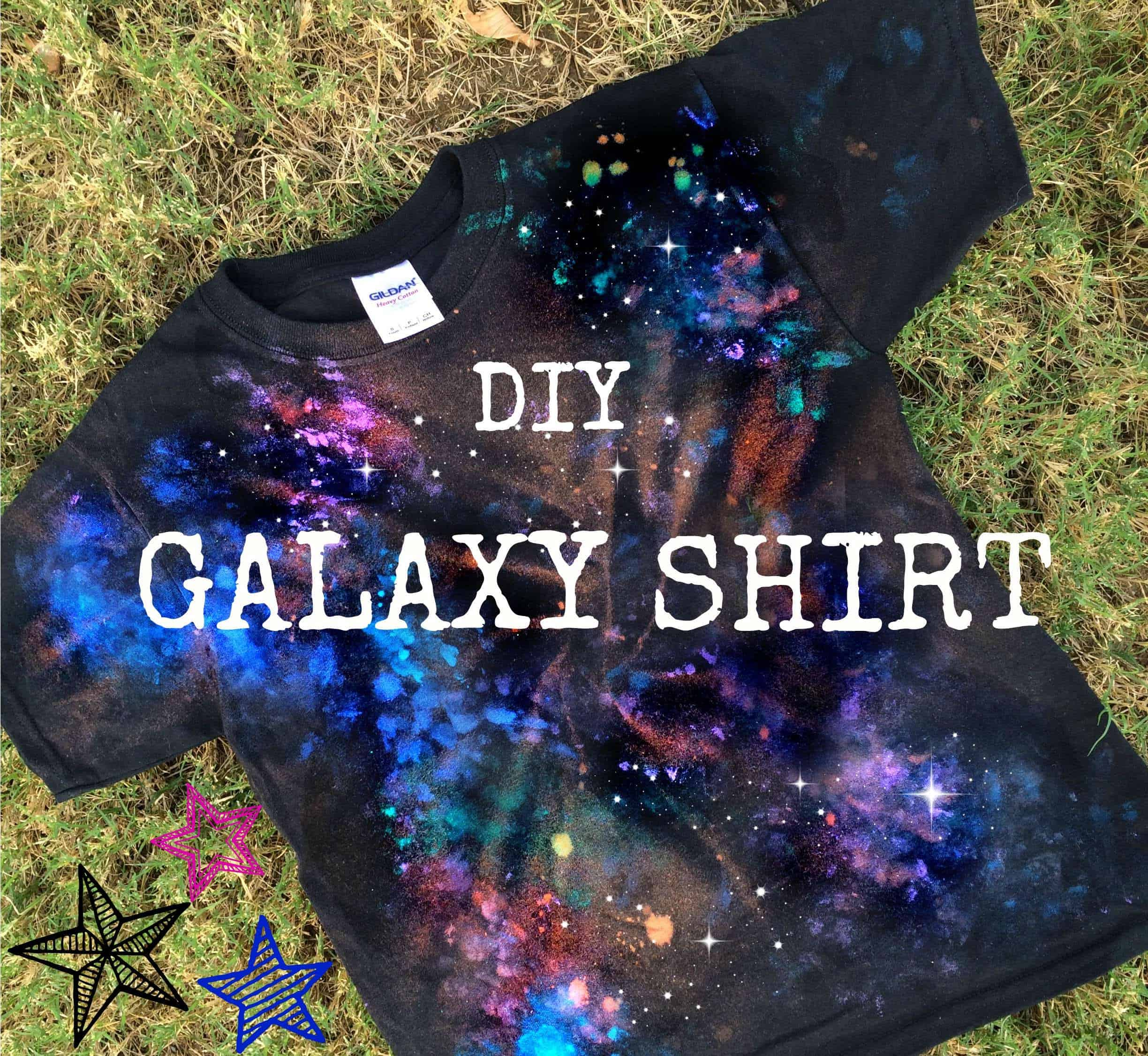 Tie dyed galaxy t-shirt