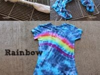 Tie dyed rainbow t shirt 200x150 15 Awesome DIY Tie Dye Projects to Up your Fashion