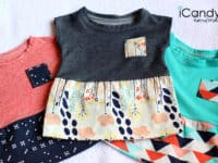 Tiny tunics 200x150 An Overdose of Cute: 15 Pretty Baby Dresses to Sew Yourself