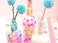 Tissue decoupaged wine bottle vases 200x150 15 Interesting Crafts Made With Tissue Paper