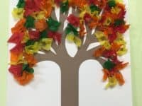 Tissue paper fall trees 200x150 15 Interesting Crafts Made With Tissue Paper