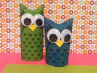 Toilet paper roll owls 200x150 15 Bright Eyed and Adorable Owl Themed Crafts for Everyone