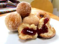 Vegan jelly filled donut holes 200x150 15 Delicious Homemade Donut Recipes