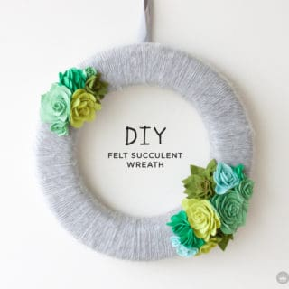 Beautiful Projects Involving Felt Flowers and Succulents