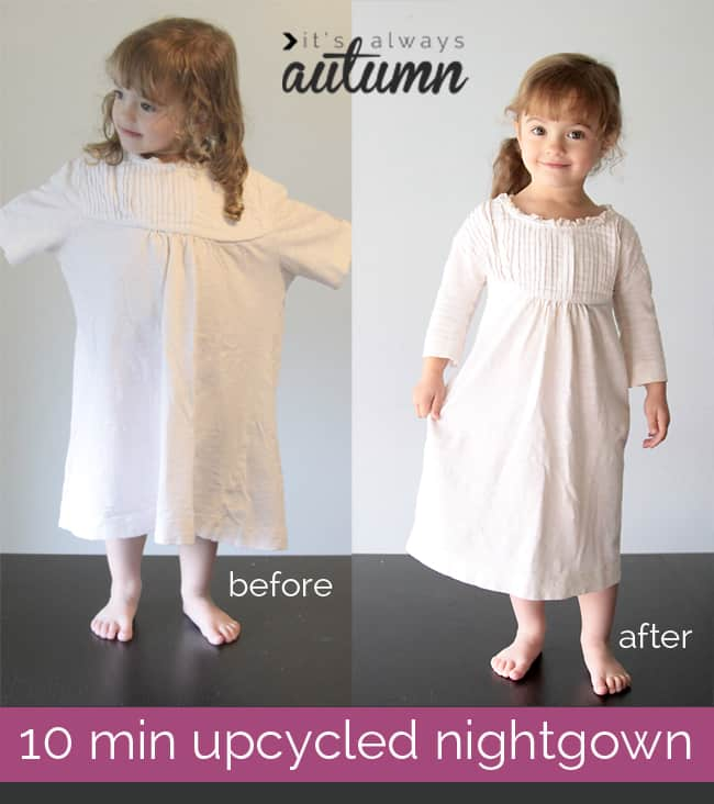 10-minute upcycled nightgown
