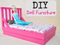 Bed with head board and mattress 200x150 For Your Little Princess: Ultra CuteDIY Furniture For Barbie Dolls