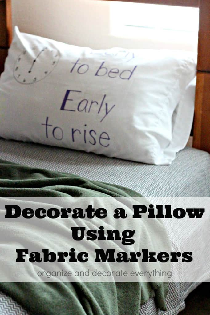 Bedtime quote pillow