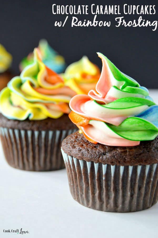 Bright rainbow frosting 1 15 Different Delicious Ways to Make Icing and Frosting