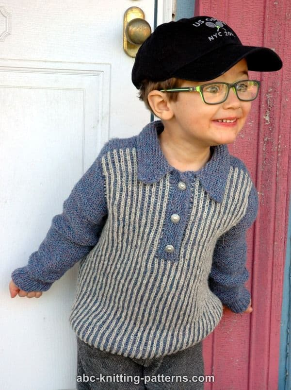 0836435b05ff8 clearance prices 2bb76 cc784 Collared brioche sweater  sleek 792ce 28989 ABC  Cardigan - Knitting Free Patterns  new style ed09f 9c30e Little Boys ...