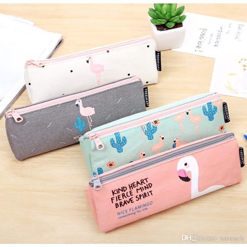 Cute canvas kawaii pencil cases