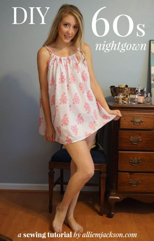DIY 60s style nightgown