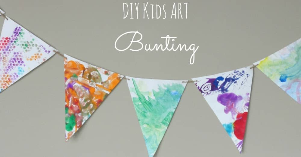 DIY kids' art bunting