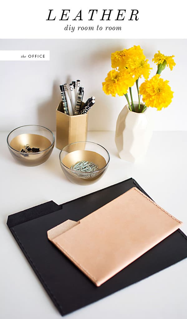 DIY leather fild folders
