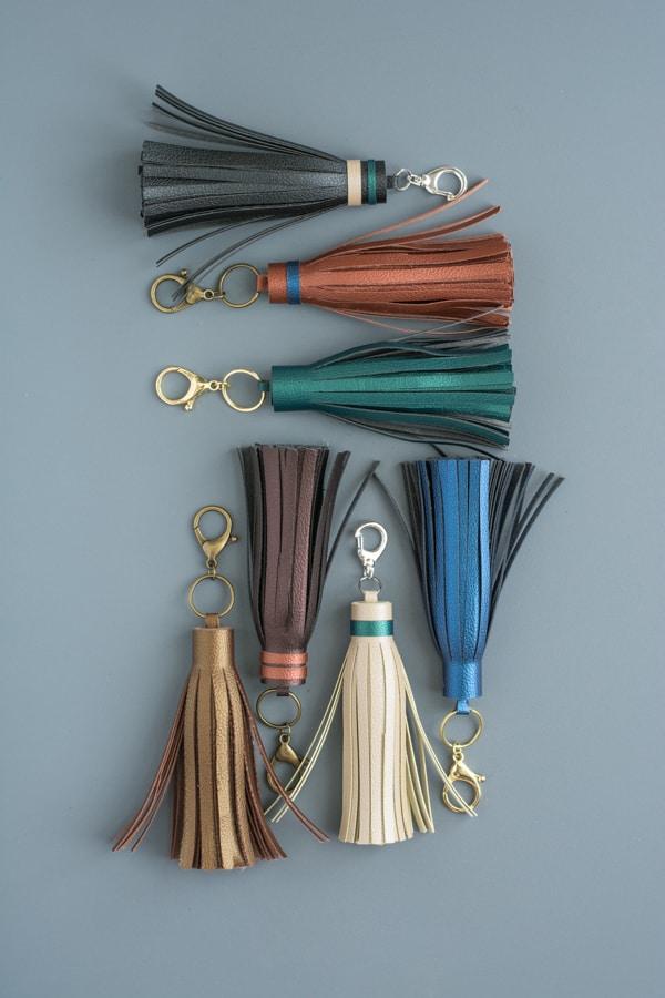 DIY leather tassels