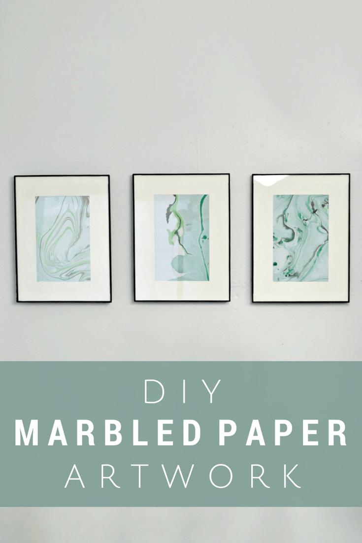 DIY marbled paper artwork