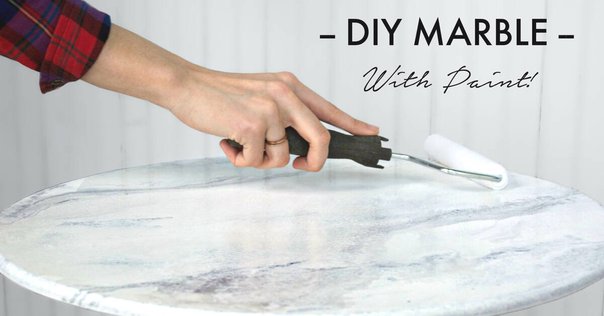 DIY marbled tabletop