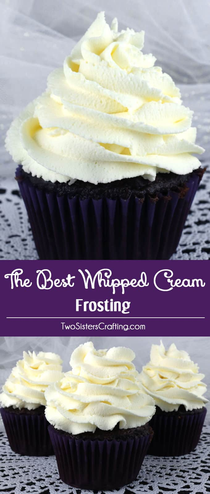 Delicious whipped cream frosting