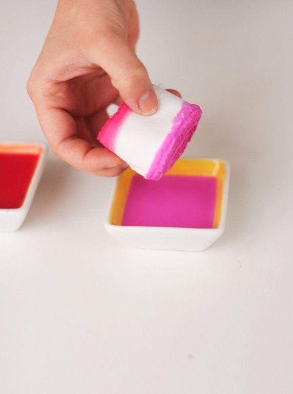 Dip dyed ribbons