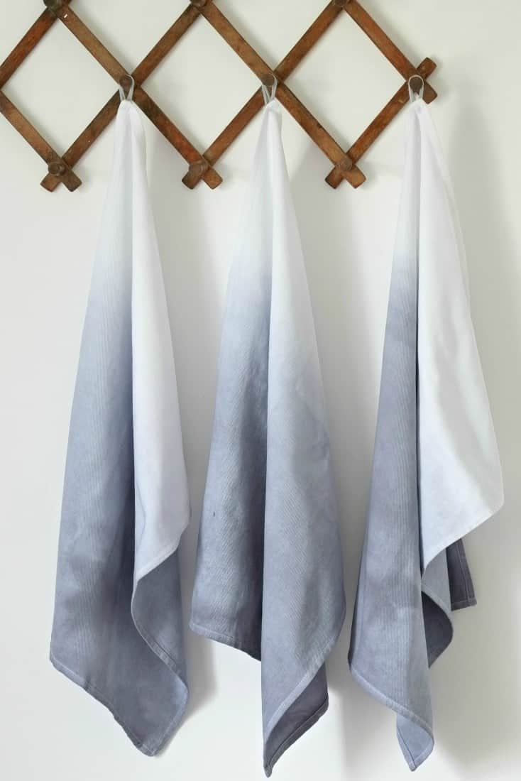 Dip dyed tea towels