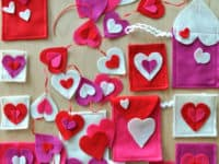 Felt Valentine hearts 200x150 Starting Early: 15 Easy Sewing Crafts for Kids
