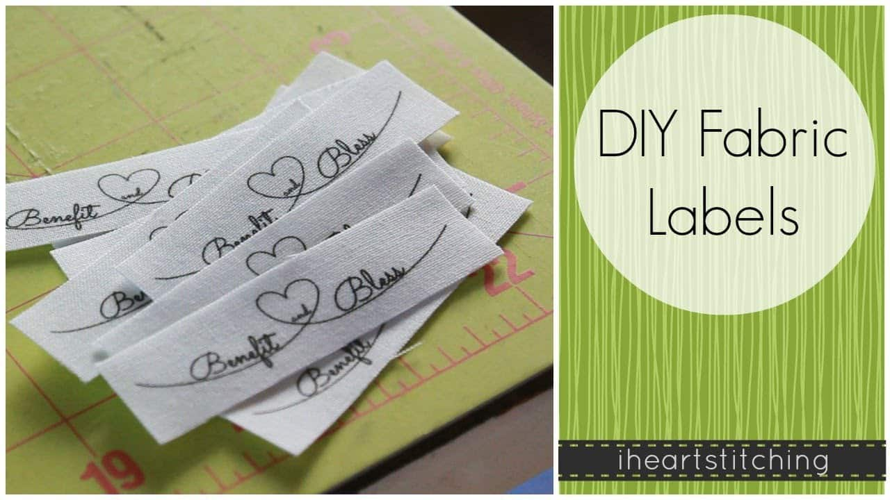 Hand written fabric labels