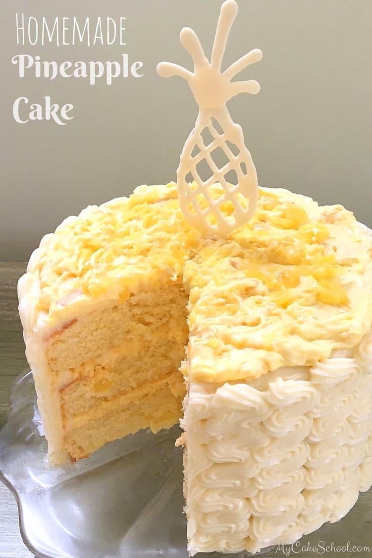 Homemade pineapple layer cake