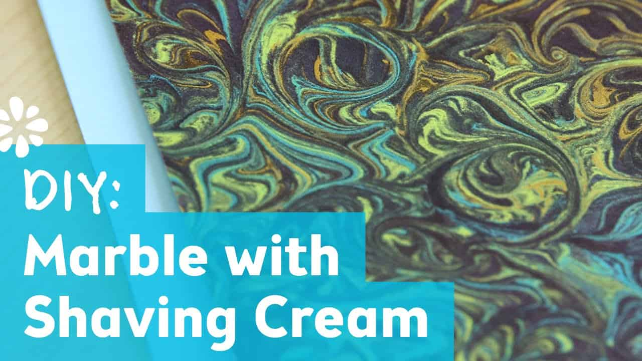 Marbled paint and shaving cream craft